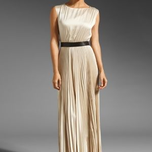 Alice + Olivia Triss Pleated Maxi Dress